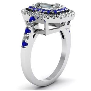 Jewelry - Luxury Emerald Cut White Sapphire Silver Ring